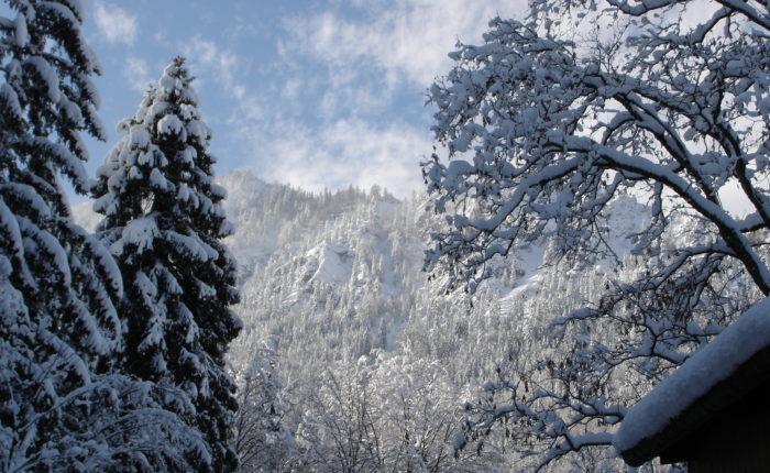 Winterlandschaft in den Bergen
